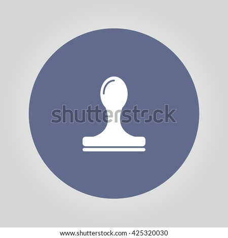 Stamp icon vector. Modern design flat style - stock vector