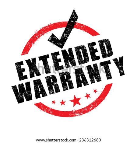Stamp of extended warranty sign vector - stock vector