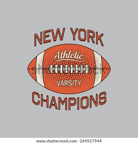 Stamp of New York champions of sport typography. It is a vector print for design of your t-shirt and for use in other spheres. - stock vector