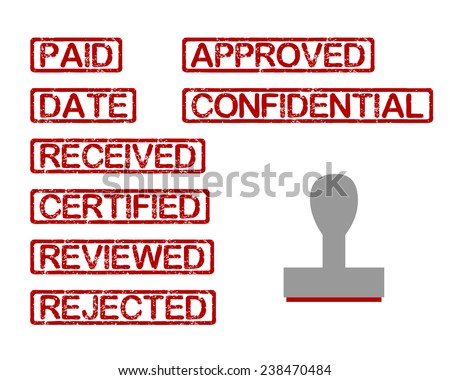 Stamp on white - stock vector