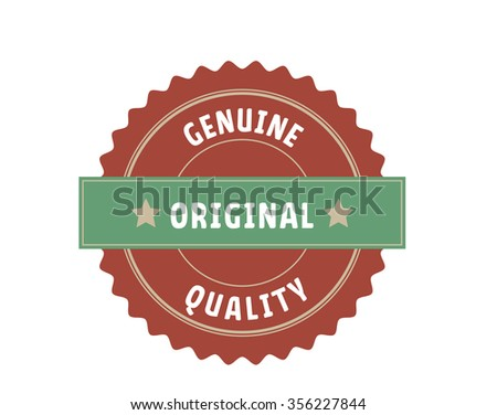 Stamp or seal for quality