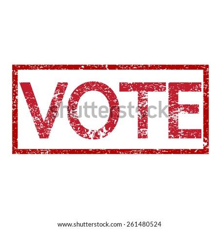 Stamp text VOTE  - stock vector