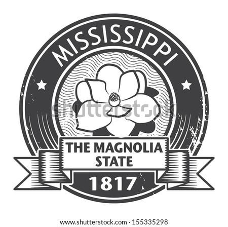 Stamp with name of Mississippi, vector illustration - stock vector