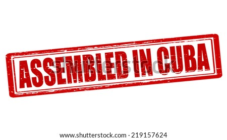 Stamp with text assembled in Cuba inside, vector illustration - stock vector