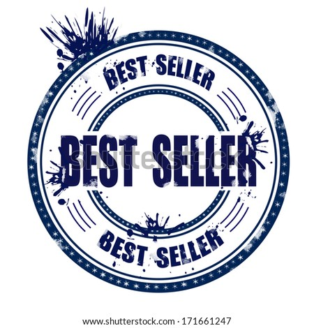 STAMP WITH TEXT BEST SELLER VECTOR ILLUSTRATION
