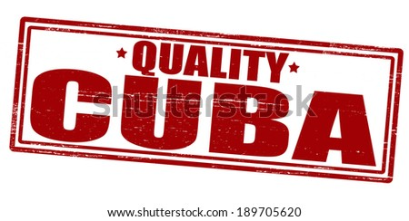 Stamp with text Cuba quality inside, vector illustration - stock vector