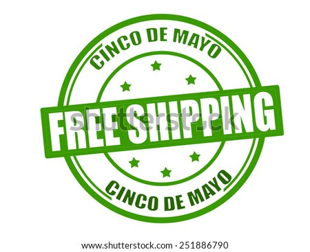 Stamp with text free shipping inside, vector illustration