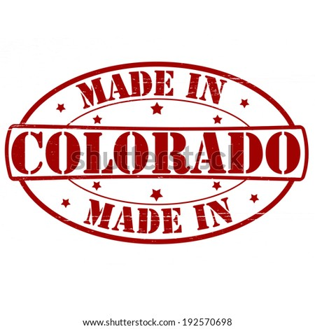 Stamp with text made in Colorado inside, vector illustration