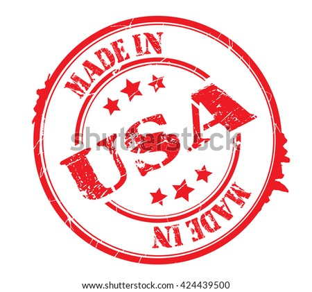 "stamp with text ""Made in USA"" isolated on white background. Vector illustration - stock vector"
