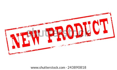 Stamp with text new product inside, vector illustration