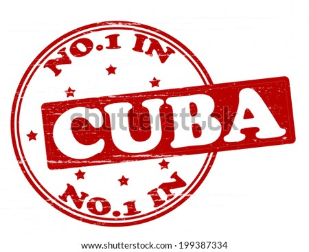 Stamp with text no one in Cuba inside, vector illustration  - stock vector