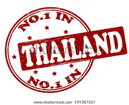 Stamp with text no one in Thailand inside, vector illustration