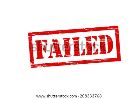 Stamp with word failed inside, vector illustration - stock vector