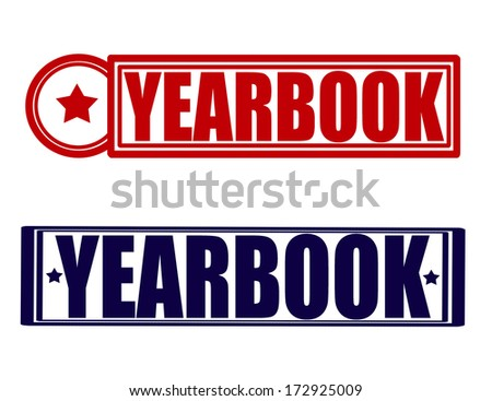 stamp word yearbook inside vector illustration stock vector hd rh shutterstock com Lifetouch Yearbook Clip Art Yearbook Clip Art 2017