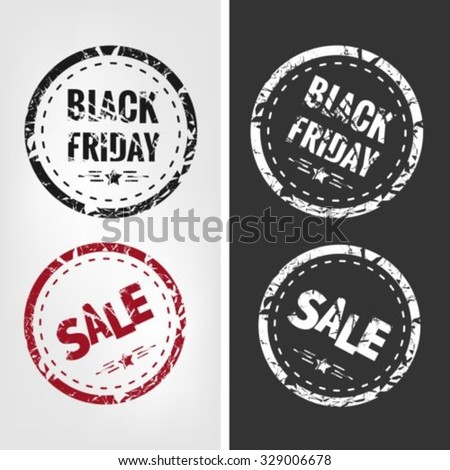 Stamps For Black Friday - stock vector