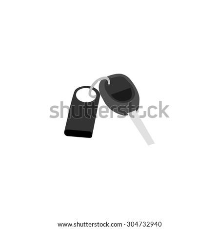 Stand alone Icon in flat style ( Car key ) - stock vector
