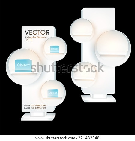 Stand display for design - stock vector