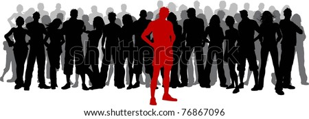 Stand out from the crowd - stock vector