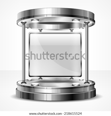 Stand promotion exhibition trade, vector illustration - stock vector
