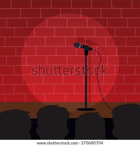 stand up comedy open mic - stock vector