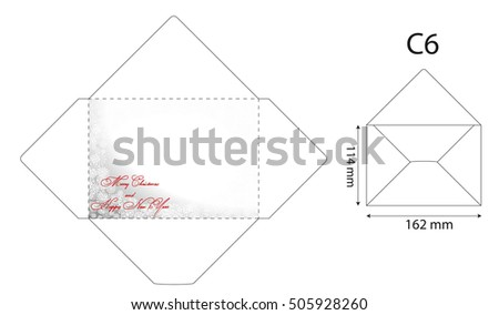 standard envelope template christmas card greeting christmasvector