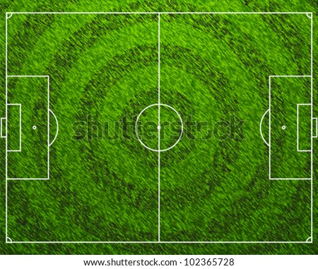 Standard Football Grass Field - stock vector