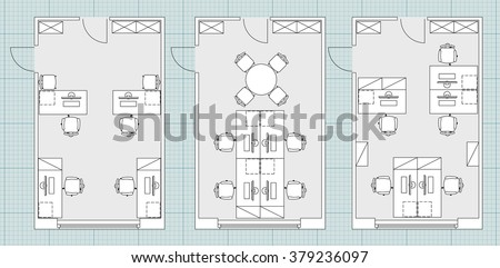 standard furniture symbols used in architecture plans icons set office planning blueprint graphic design blueprints office desk preview save
