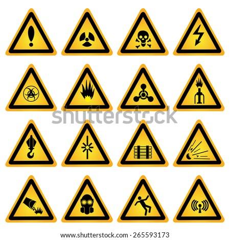 Standard Hazard Symbols Stock Vector 2018 265593173 Shutterstock