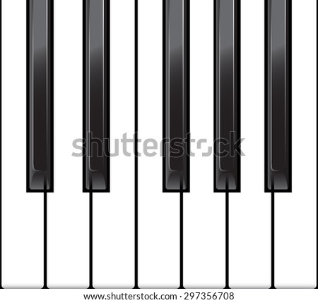 Standard piano octave as a horizontal seamless. vector illustration