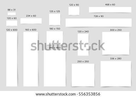 Standard Web Banners Template Big Set Stock Vector 556353856 ...