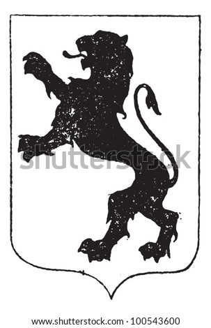 Heraldic lion Stock Photos, Images, & Pictures   Shutterstock
