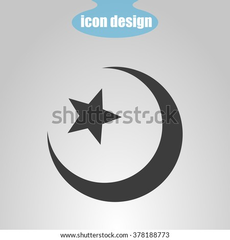 Star  and crescent. Islamic symbol
