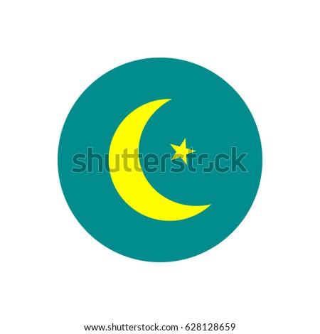 Star Crescent Symbol Islam Flat Icon Stock Vector Royalty Free