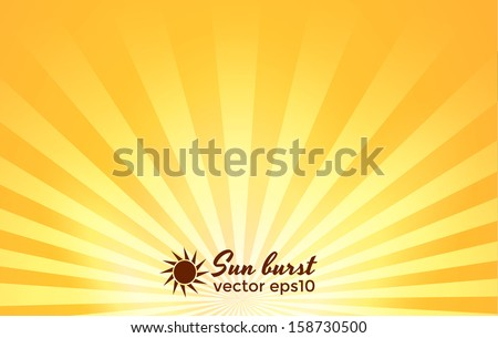 Star burst background. Vector eps10 - stock vector
