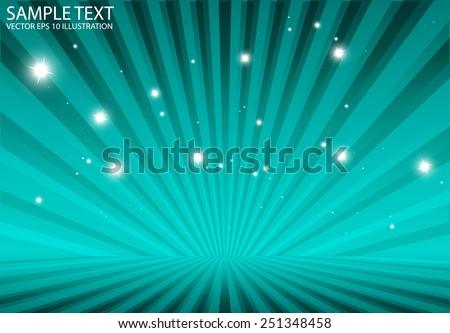 Star burst  blue vector rays spreading  background vector illustration - Abstract vector starburst  blue background illustration - stock vector