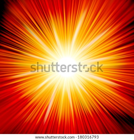 Star burst red and yellow fire. EPS 10 vector file