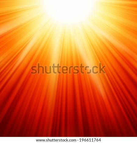 Star burst red and yellow fire. EPS 10 vector file included - stock vector