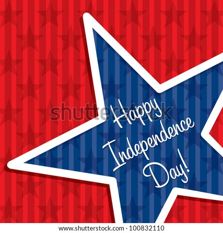 Star cut out Happy Independence Day card in vector format.