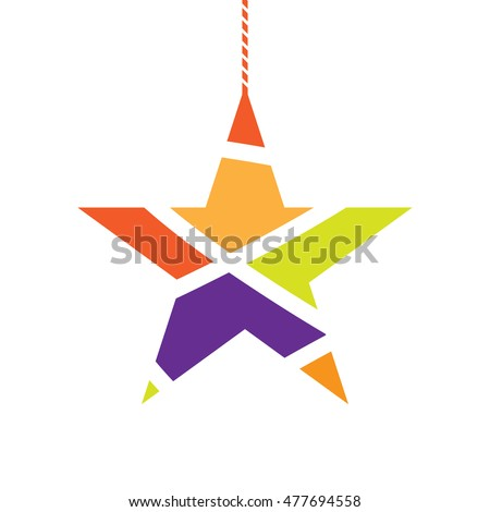 star decorative symbol, christmas festival vector illustration