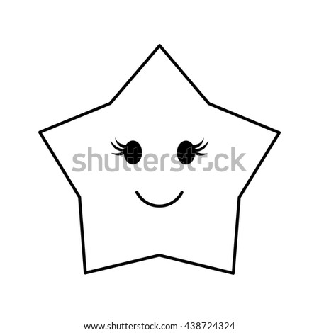 star  design. cartoon icon. isolated image. vector graphic - stock vector