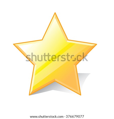 Star, favorite icon, vector illustration. 3d design style