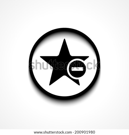 Star favorite sign web icon with minus glyph. Vector illustration design element eps10 - stock vector