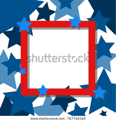 star frame red, decorated background
