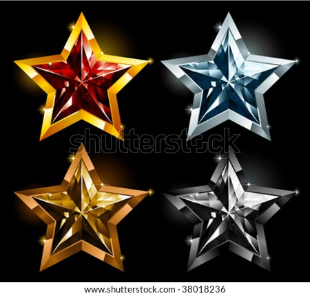 Star Gems - stock vector