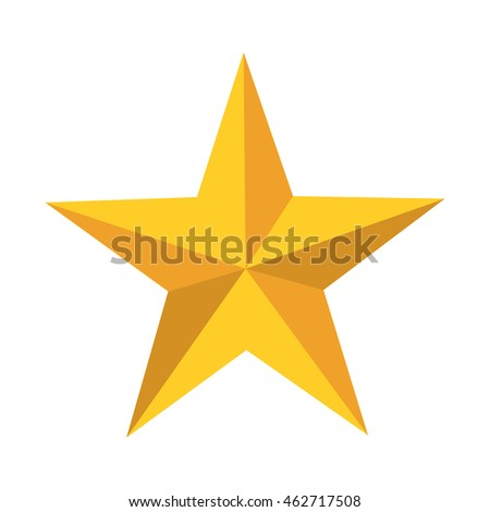 star golden silhouette icon vector illustration graphic