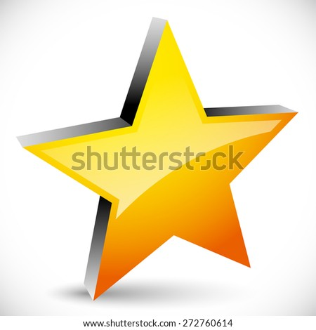 Star graphics - Star, favorite Icon, 5-pointed star. Vector - stock vector