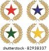 star heraldic - stock vector