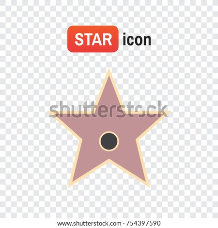 star hollywood . Star award illustration for famous people