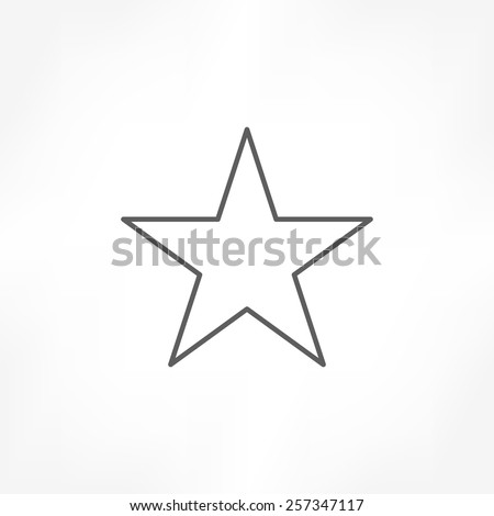 Star outline stock images royalty free images vectors star icon sciox Images