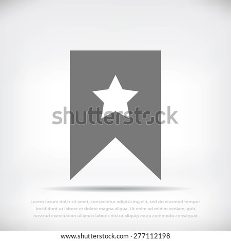 star icon, Flat pictograph icon - stock vector